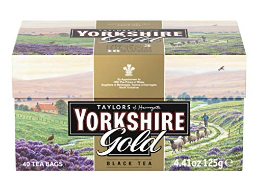 Taylor´s of Harrogate Yorkshire Gold Tea – 5 x 125 g (5 x 40 Beutel) – Schwarzer Tee – Mischung aus Assam, Kenia und Ruanda