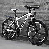 Tbagem-Yjr Unisex Pendler Stadt Hardtail Bike, Mens Variabler Geschwindigkeit MTB Offroad-Gebirgsfahrrad (Color : White, Size : 30 Speed)