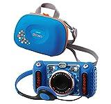 Vtech 80-520094 80-520094-KidiZoom Duo DX - Cámara de Fotos Infantil (Incluye Bolsa de Transporte), Color Azul