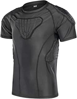 DGXINJUN Padded Compression Shirt Chest Protector Parkour Extreme Exercise Suit for Boys