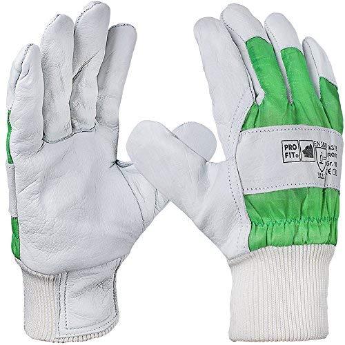 PRO FIT 12 Paar - Frost Rindvolllederhandschuh, komplett gefüttert, Strickbund, Premium-Qualität 10