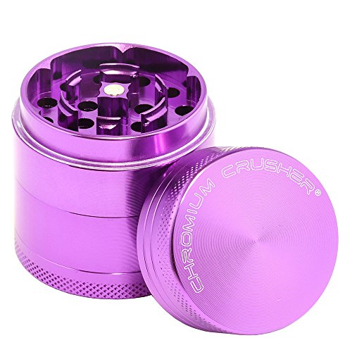 Chromium Crusher 1.6 Inch 4 Piece Spice Herb Grinder - Pick Your Color (Purple)