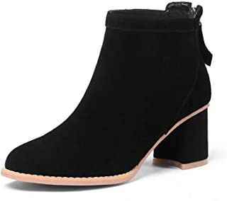 BalaMasa Womens Nubuck Fabric Boots Urethane Boots ABM13215