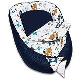 PALULLI Nido de bebé multifuncional con colchón suave adicional, coco, cuna, cuna de viaje para recién nacidos, 100 % algodón Oeko-Tex (Aztec II)