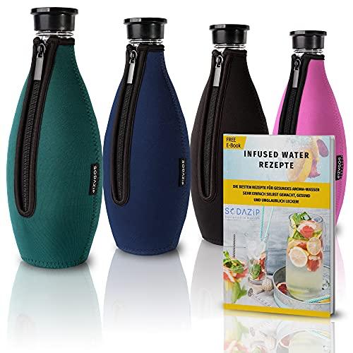 SODAZiP Funda de neopreno para jarra de cristal SodaStream Crystal, protección contra roturas, para botellas de cristal Soda Stream, accesorio para viajes, color verde