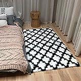 Fellteppich aus weichem Lammfell in weiß flauschig weich Sofabedecke Schlafzimmerteppich 60 - 120 cm