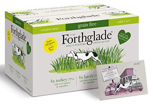 Forthglade Comida para Perros 100% Natural, sin Cereales, Paquete Completo de Comida húmeda para Perros, 395 g, Paquete de 12
