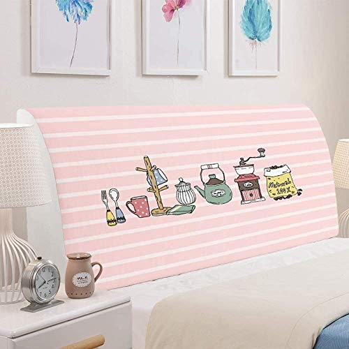YMYP08 Schonbezug für Kopfteil für Einzelbett/Doppelbett/Queen-Size, aus dicker Baumwolle, staubdicht, dehnbar, waschbar (Farbe: G, Größe: 150 cm)