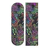 N\ A Trippy Wallpapers Skateboard Grip Tape Cool Longboard Scooter Griptape Grip Tape Anti Slip Waterproof Bubble Free Sandpaper Skateboard Deck Stickers Sheet 9'x33'