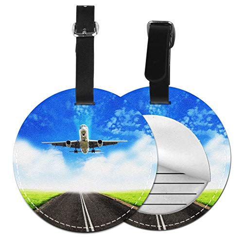 Etiquetas para Equipaje Bolso ID Tag Viaje Bolso De La Maleta Identifier Las Etiquetas Maletas Viaje Luggage ID Tag para Maletas Equipaje Aterrizaje Avión De Pasajeros Cielo Nubes