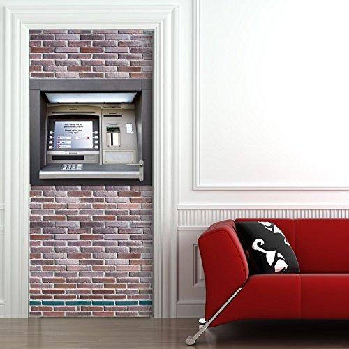 StickerProfis Poster Adesivo da Porta e pareti - Bancomat - murale Foglio di Porta Geldautomat