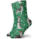Be-ryl Alaskan Malamute Peppermint Dog Calcetines Deportivos Calcetines Tobilleros Calcetines Deportivos Casuales Calcetines de algodón