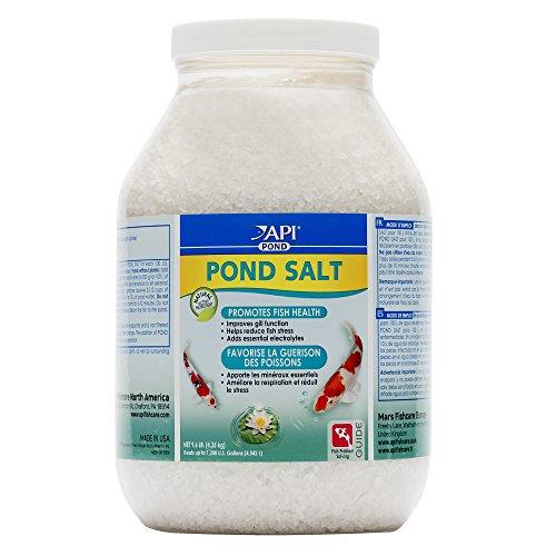 API pond SALT Pond Water Salt 9.6-Pound Container, FISHAQUARI