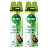 Dettol Disinfectant Sanitizer Spray for Germ Protection on Hard & Soft Surfaces, Original Pine, 225ml, Pack of 2