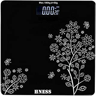 HNESS Electronic Thick Tempered Glass & LCD Display Electronic Digital Personal Bathroom Health Body,Home Medical Supplies...