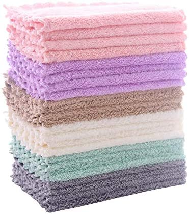 24 Pack Kitchen Dishcloths Does Not Shed Fluff No Odor Reusable Dish Towels Premium Dish cloths product image