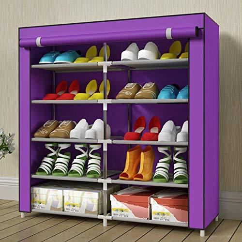 M-YN Zapatero Gabinete de Tela no Tejida de 10 Niveles for 20 Pares de Organizador de Almacenamiento de pie de Zapatos, 90 x 90 x 30 cm (Color : B)