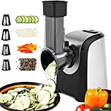 Electric Slicers, Professional Salad Maker, 150W Electric Slicer Shredder/Chopper/Graters/Shooter with 4 Cone Blades for Vegetables, Fruits, and Cheese and More