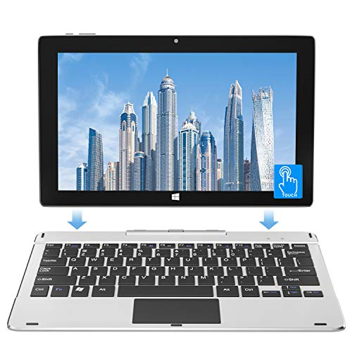 Jumper EZpad 6s Pro 6GB RAM 128GB SSD 11.6 Inch Windows 10 Laptop 2in1 Touchscreen Tablet PC Thin Light Detachable Keyboard Intel Quad Core CPU Supports up to 128GB TF Card Expansion.