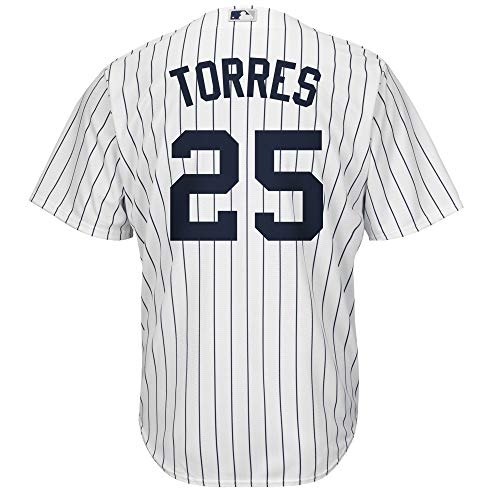 Gleyber Torres New York Yankees White Youth Cool Base Home Replica Jersey (Large 14/16)
