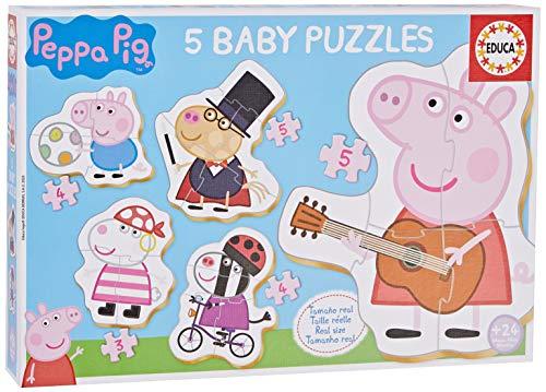 Educa - Peppa Pig Conjucto de Baby Puzzles, Multicolor (18589)