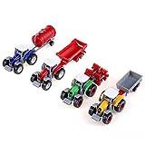 Zerodis 4pcs/set scala 1:64 alta simulazione agricola agricoltore veicolo modello mini auto giocattolo per bambini