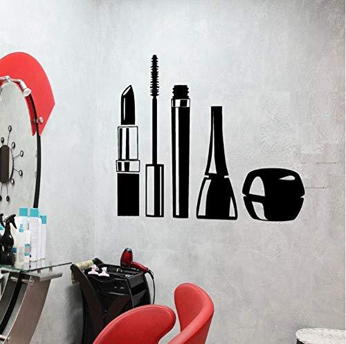 chenwasd.co Cosmétiques Maquillage Fille Vinyle Sticker Conception Étanche Stickers Muraux Mascara Rouge À Lèvres Femme Décor pour Salon De Beauté 57 * 89 Cm