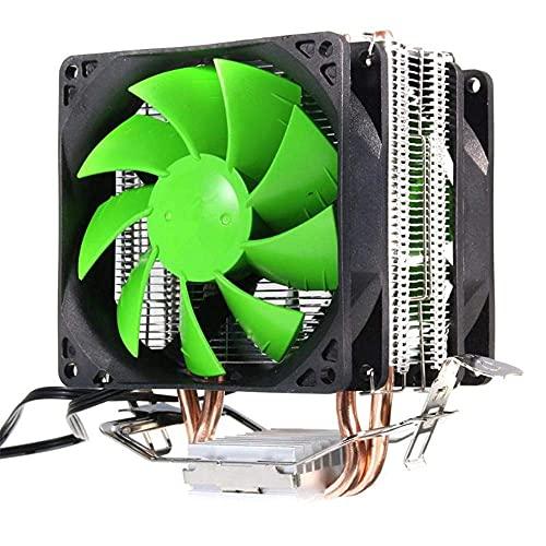 NHLBD LIJIANZI Worth Having - Prima UPC Enfriador con Doble Cobre y Tubos, Ventiladores duales, cojinete hidráulico silencioso de Alto Rendimiento para zócalo Intel LGA2011 LGA1366 AMD AM3