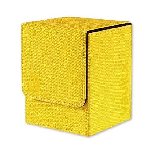 Vault X ® Premium eXo-Tec Sammelkarten Box für 100+ Karten - ohne PVC Karten Halter für Spielkarten zum Sammeln und Tauschen (Gelb)