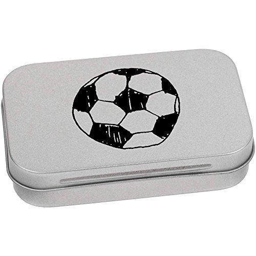 Azeeda 95mm x 60mm 'Fußball' Blechdose / Aufbewahrungsbox (TT00059127)