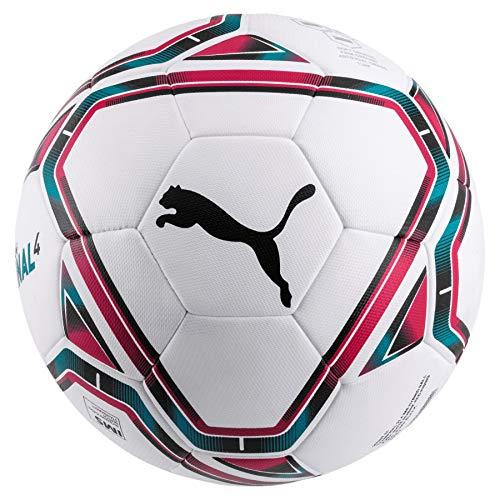 Puma teamFINAL 21.4 IMS Hybrid Ball Size 4, Pallone da Calcio Unisex-Adult, White-Rose Red-Ocean Depths Black, 4