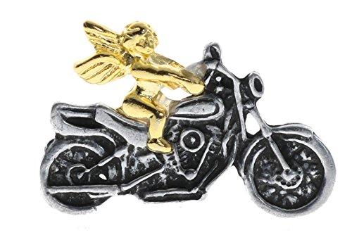 Sujak Military Items Motorcycle Biker Guardian Angel Lucky Charm Hat Lapel Pin BingMotorcycle
