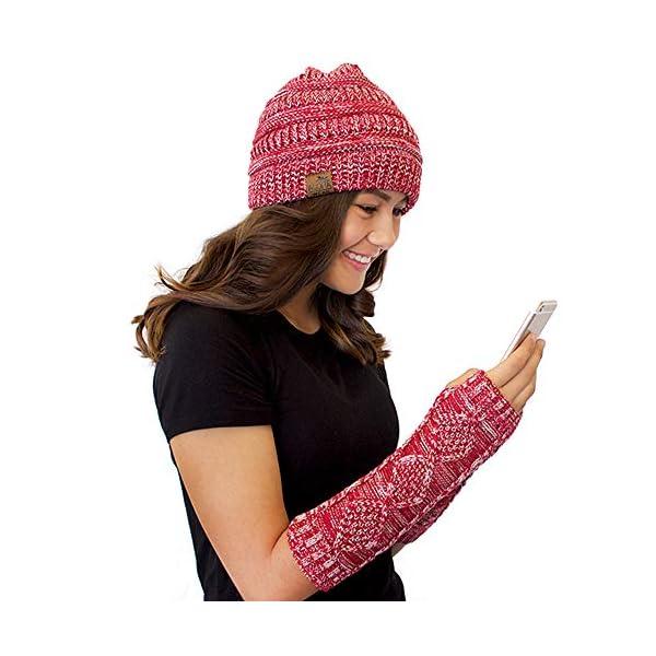 Aloha Wear Beanie (NO Hole) and Arm Warmer Fingerless Gloves