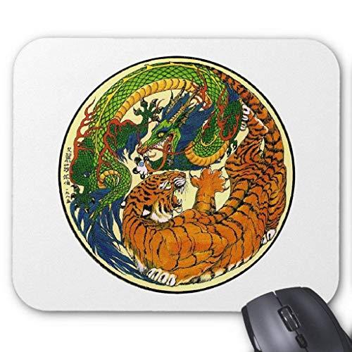 Accesorios de ordenador anti-fricción pulsera Tiger & Dragon Yin Yang Mouse Pad 18X22