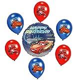 Libetui Disney Cars Kinder Geburtstag Junge Luftballons Deko Geburtstag Dekoration Set Happy...