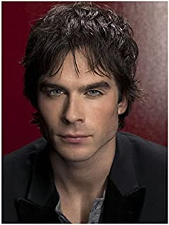 The Vampire Diaries (TV Series 2009 - ) 8 Inch x 10 Inch photo Ian Somerhalder from Chest Up Crimson Background kn