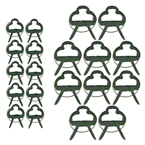 KINGLAKE 60 Piezas de Clips para Plantas de jardín (2 tamaños en 3 Paquetes) Clip de Planta de Soporte de Ajuste para Vid