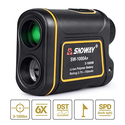 Télémètre de Golf Chasse 1000m 6X Multifonction RangeFinder Télescope Monoculaire, Scan, Verrou...