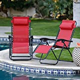 Ngel Folding Camping Reclining Chairs,Portable Zero Gravity Chair,Outdoor Lounge Chairs, Patio Outdoor Pool Beach Lawn Recliner (Folding Reclining)