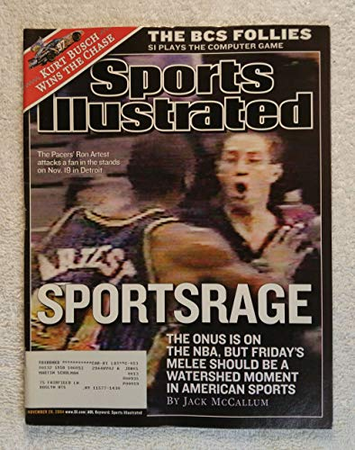 Ron Artest (Metta World Peace) - Indiana Pacers - Sports Rage - Sports Illustrated - November 29, 2004 - SI