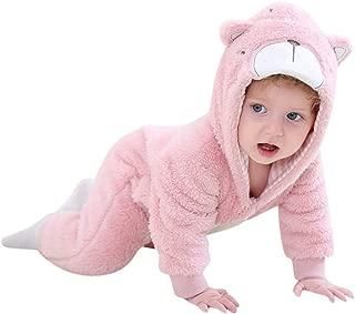 Mayunn Toddler Baby Boys Girls Cute Cartoon Pajamas Bodysuit Romper Animals Cosplay Clothes (3Months-3Years)