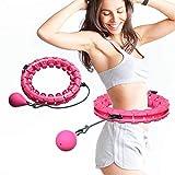 UNEEDE Hula Hoop, Einstellbar Breit Hula Hoop Reifen Fitness mit Massagenoppen für Kinder Erwachsene Anfängermit Gymnastikreifen zum Abnehmen, Fitness, Massage