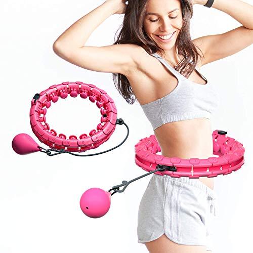 UNEEDE Smart Reifen, Einstellbar Breit Hoop Reifen Fitness mit Massagenoppen für Kinder Erwachsene Anfängermit Gymnastikreifen zum Abnehmen, Fitness, Massage