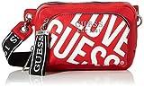 guess haidee belt bag borsa a zainetto da donna, rosso, taglia unica