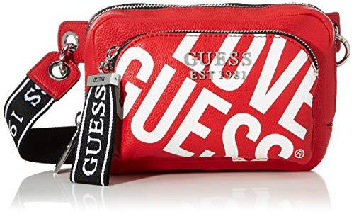 Guess Haidee Belt Bag, bolso bandolera para Mujer, Rojo (Red), 5x15x22 Centimeters (W x H x L)