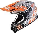 Scorpion CASCO MOTO VX 16 AIR ORATIO,UNISEXO,Grigio-arancio opaco,L