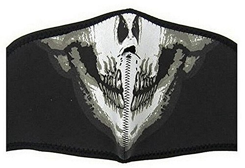 SAMGU-Masque Protection Demi Cagoule Neoprene Ghost Tete de Mort - Skull - Taille Unique réglable - Airsoft - Paintball - Outdoor CS