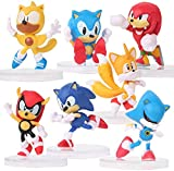 7 Pcs Sonic Hedgehog Action Figures,The Sonic Action Figures -Toys Birthday Gift Set,Collectibles, Decorations Ornaments