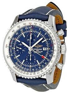 Breitling Men's A2432212/C651 Navitimer World Blue Chronograph Dial Watch image