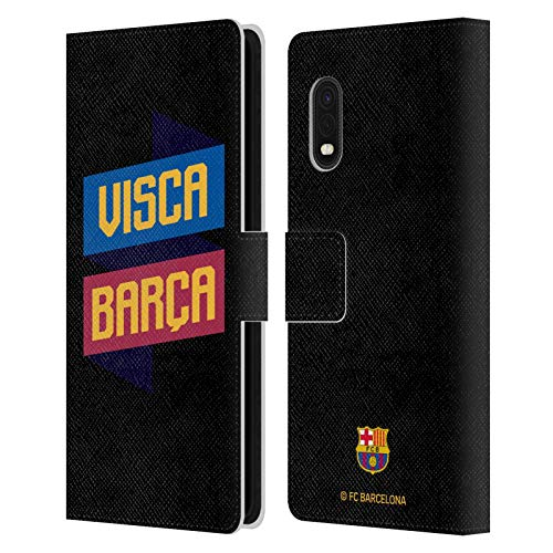Head Case Designs Oficial FC Barcelona Visca 2019/20 Forca Barca Carcasa de Cuero Tipo Libro Compatible con Samsung Galaxy Xcover Pro